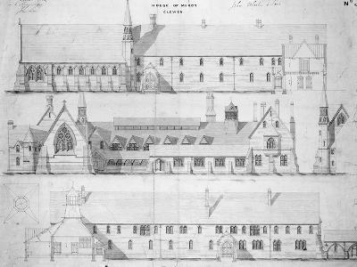 The House of Mercy, Clewer, C.1853 (Engraving)-English-Giclee Print