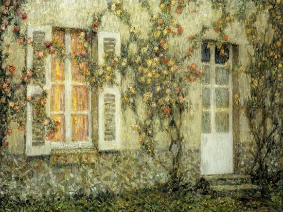 The House of Roses-Henri Eugene Augustin Le Sidaner-Giclee Print
