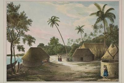 The House of the Tamaha, Moua, Tonga, 1830-Louis Auguste de Sainson-Giclee Print