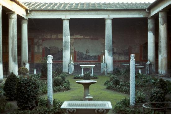 The house of the Vettii in Pompeii, 1st century-Unknown-Photographic Print