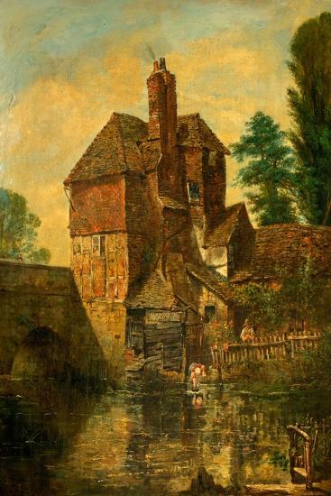 The House on Harnham Bridge, Salisbury, Wiltshire, C.1860--Giclee Print