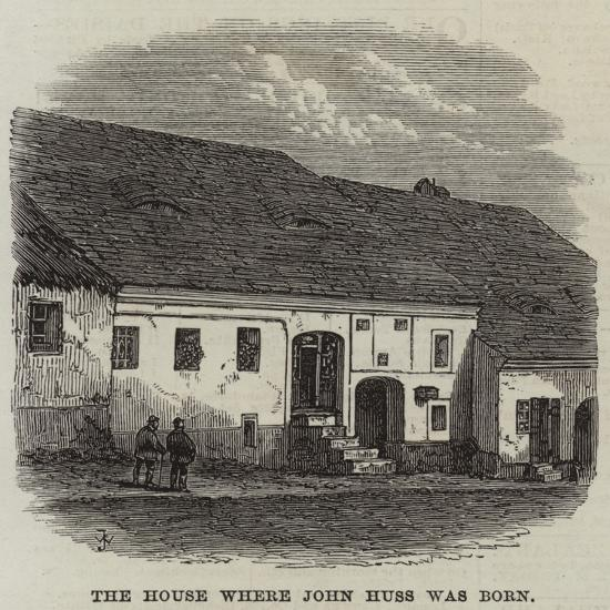 The House Where John Huss Was Born--Giclee Print