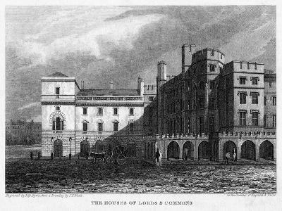 The Houses of Lords and Commons, Westminster, London, 1815- Byrne-Giclee Print