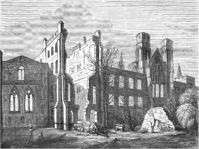 The Houses of Parliament after the Fire in 1834,--Giclee Print