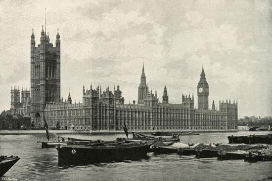 'The Houses of Parliament', (c1897)-E&S Woodbury-Giclee Print