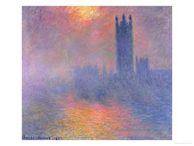 The Houses of Parliament, London, with the Sun Breaking Through the Fog, 1904-Claude Monet-Giclee Print