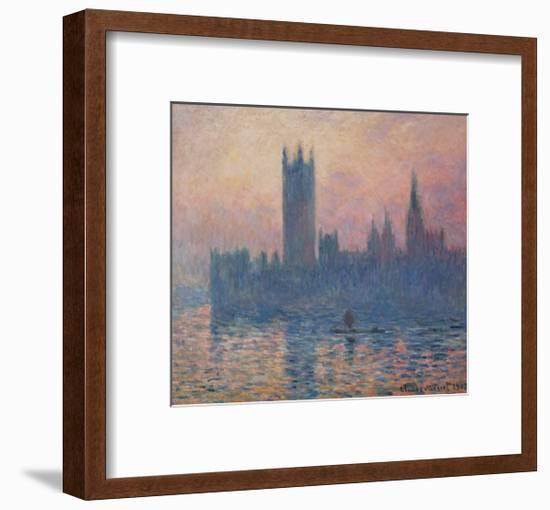 The Houses of Parliament, Sunset, 1903-Claude Monet-Framed Giclee Print