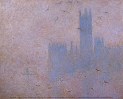 The Houses of Parliament, The Seagulls-Claude Monet-Art Print