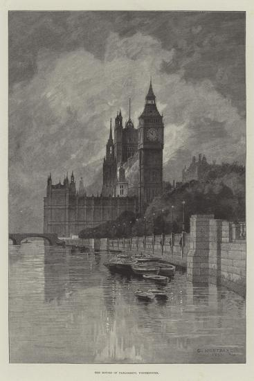The Houses of Parliament, Westminster-Charles Auguste Loye-Giclee Print