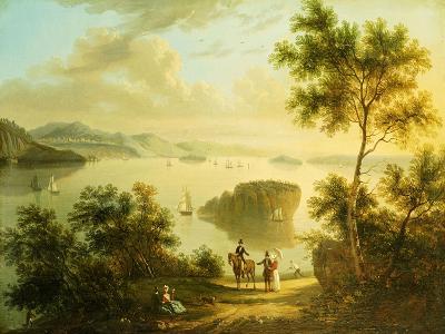 The Hudson River, American School, 19th Century--Giclee Print
