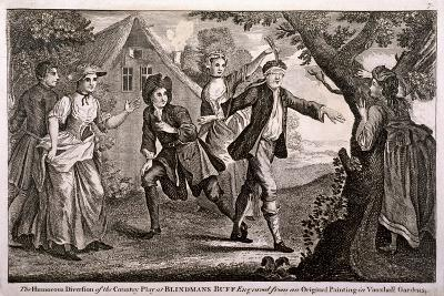 The Humorous Diversion of the Country Play at Blindmans Buff, Vauxhall Gardens, London, C1745-Francis Hayman-Giclee Print
