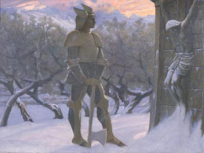 The Hun and the Crucifix-William Blake Richardson-Giclee Print