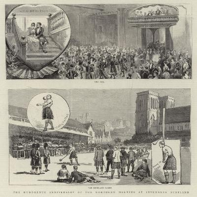 The Hundredth Anniversary of the Northern Meeting at Inverness, Scotland--Giclee Print