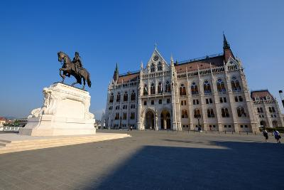 The Hungarian Parliament Building and Statue of Gyula Andressy, Budapest, Hungary, Europe-Carlo Morucchio-Photographic Print