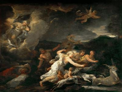 The Hunt of Diana-Luca Giordano-Giclee Print