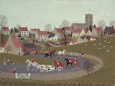 The Hunt Riding Through the Village, 1986-Vincent Haddelsey-Giclee Print