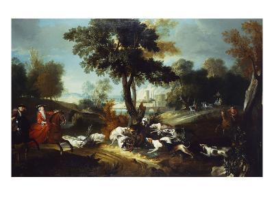 The Hunt with Wolf; La Chasse Au Loop-Jean Baptiste Oudry (Attr to)-Giclee Print