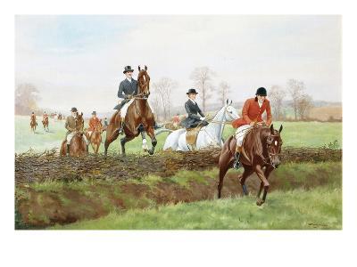 The Hunt-George Derville Rowlandson-Giclee Print