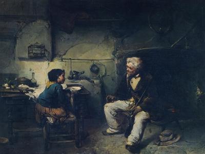 The Hunter, by Domenico Induno--Giclee Print