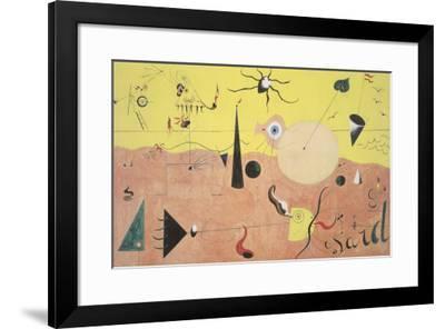 The Hunter-Joan Miro-Framed Art Print