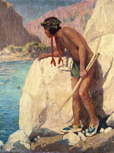 The Hunter-Eanger Irving Couse-Giclee Print