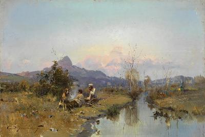 The Hunters at Rest-Sergei Ivanovich Vasilkovsky-Giclee Print