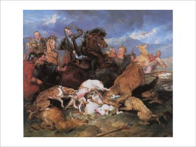 The Hunting of Chevy Chase-Edwin Henry Landseer-Giclee Print