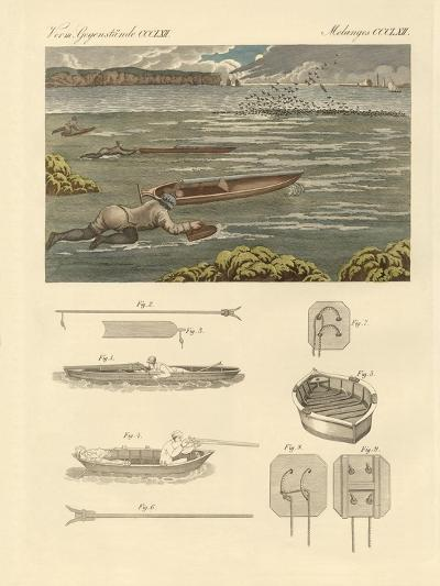 The Hunting of Waterbirds on the Coasts of England--Giclee Print