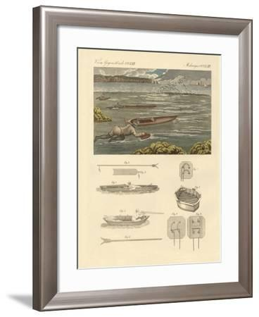The Hunting of Waterbirds on the Coasts of England--Framed Giclee Print