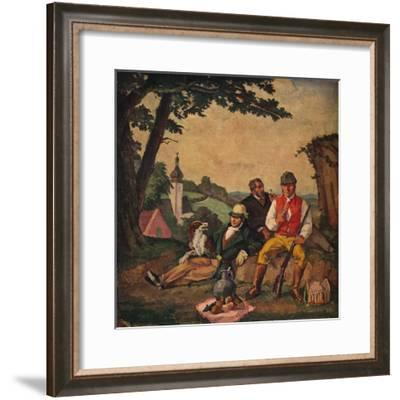 'The Hunting Picnic', c1926-Alfred Hagel-Framed Giclee Print