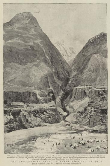The Hunza-Nagar Expedition, the Fighting at Nilt--Giclee Print