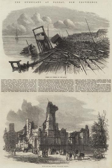 The Hurricane at Nassau, New Providence--Giclee Print