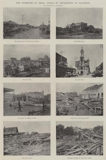 The Hurricane in Texas, Scenes of Devastation in Galveston--Giclee Print