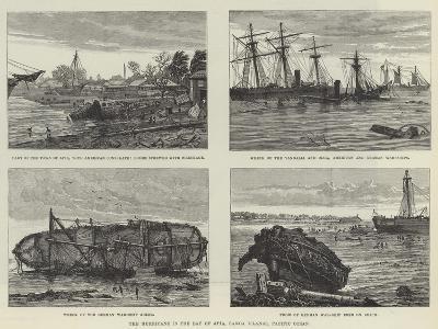The Hurricane in the Bay of Apia, Samoa Islands, Pacific Ocean--Giclee Print
