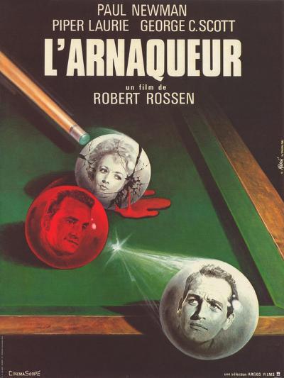 The Hustler, French Movie Poster, 1961--Art Print