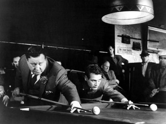 The Hustler, Jackie Gleason, Paul Newman, 1961--Photo