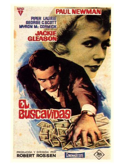 The Hustler, Spanish Movie Poster, 1961--Art Print