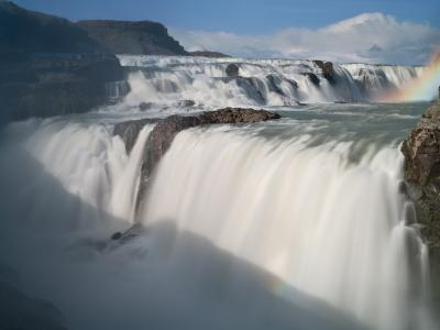 The Hvita River Roars Over Gullfoss Waterfall, Iceland-Don Grall-Photographic Print