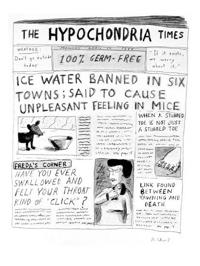 The Hypochondria Times' - Cartoon-Roz Chast-Premium Giclee Print