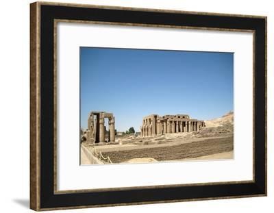 The hypostyle hall of the Ramesseum, the mortuary temple of Ramesses II-Werner Forman-Framed Giclee Print