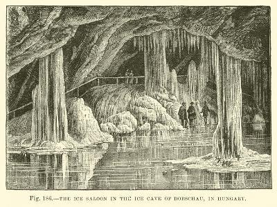 The Ice Saloon in the Ice Cave of Dobschau in Hungary--Giclee Print
