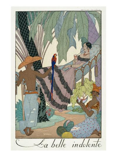 The Idle Beauty-Georges Barbier-Giclee Print