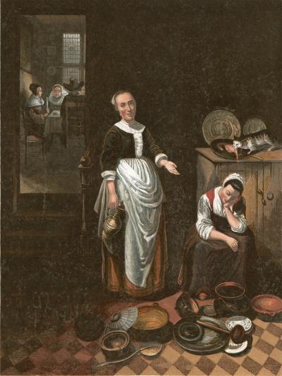 The Idle Servant-Nicholaes Maes-Giclee Print