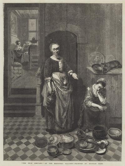 The Idle Servant-Nicolaes Maes-Giclee Print