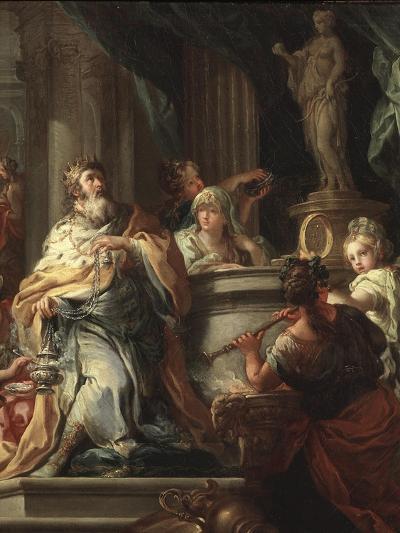 The Idolatry of Solomon (Detail)-Sebastiano Conca-Giclee Print