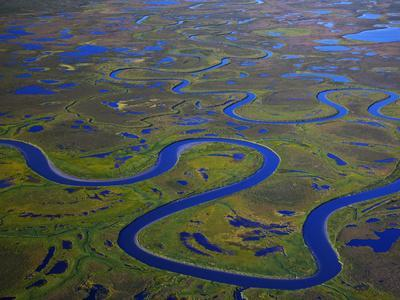 The Igushik River Snakes Through the Togiak National Wildlife Refuge-Michael Melford-Photographic Print