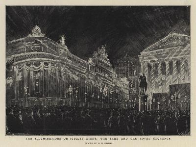 The Illuminations on Jubilee Night, the Bank and the Royal Exchange-Henry William Brewer-Giclee Print