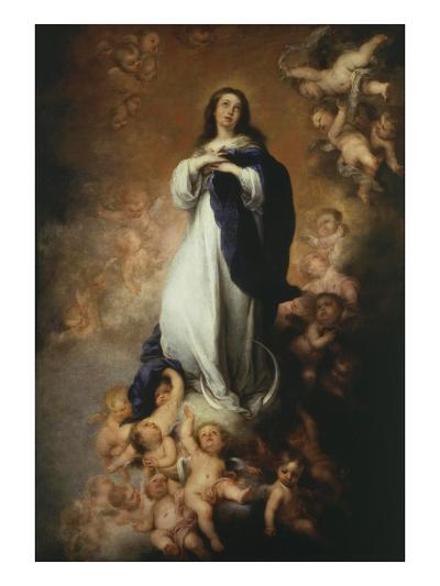 The Immaculate Conception, 1676-9 of Soult 274X190Cm-Bartolome Esteban Murillo-Giclee Print