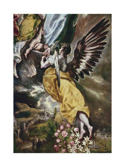 The Immaculate Conception (Detail of Angel-El Greco-Giclee Print