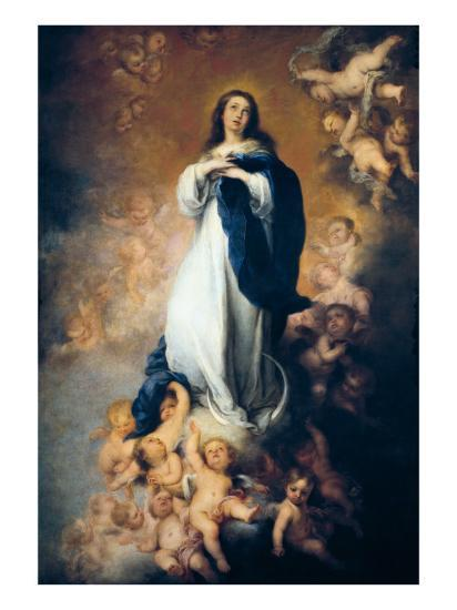 The Immaculate Conception Of Soult Art Print By Bartolome Esteban Murillo Artcom